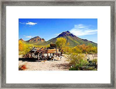 Abandoned Wagon Framed Print by Michael Petrizzo