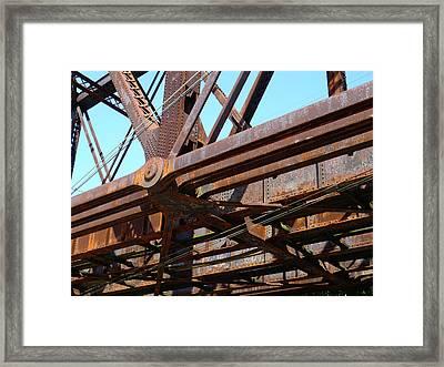Abandoned - Whitford Railroad Bridge Framed Print by Richard Reeve