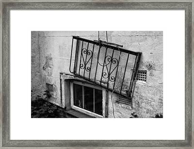 Abandoned Window  Framed Print by Georgia Fowler
