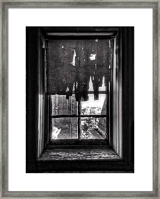 Abandoned Window Framed Print by H James Hoff
