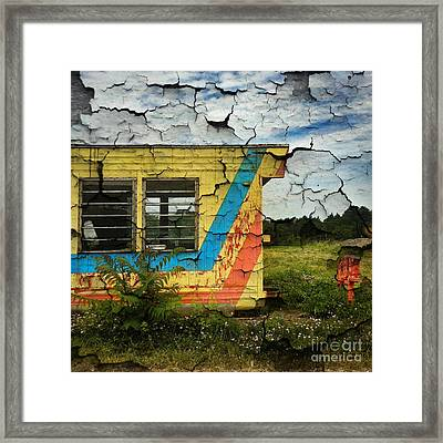 Abandoned Yellow Trailer Framed Print