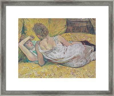 Abandonment Framed Print by Henri de Toulouse-Lautrec