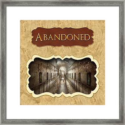 Abanoned Button Framed Print by Mike Savad