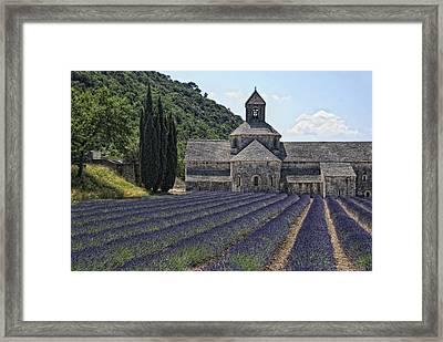 Abbaye De Senanque Framed Print by Joachim G Pinkawa