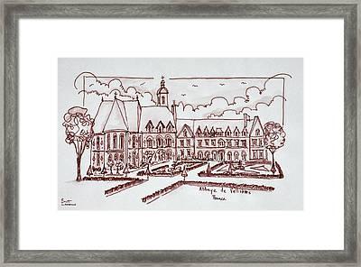 Abbaye De Valloires, Argoules, France Framed Print