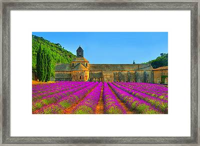 Abbaye Notre-dame De Senanque Framed Print by Midori Chan