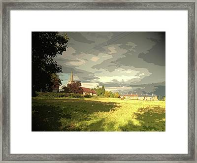 Abbey Fields And St Michaels Church In, Historic Site Framed Print