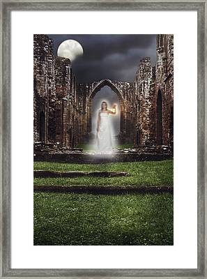 Abbey Ghost Framed Print by Amanda Elwell