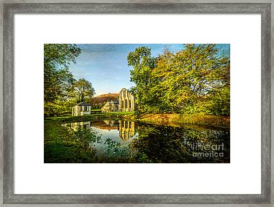 Abbey Lake Autumn Framed Print