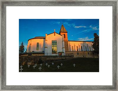 Abbey Of Gethsemene Golden Hour Framed Print