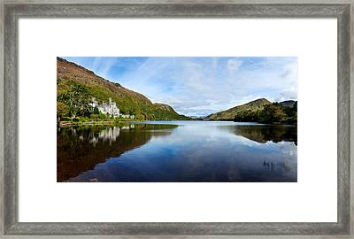 Abbey On The Banks Of Fannon Pool Framed Print by Panoramic Images
