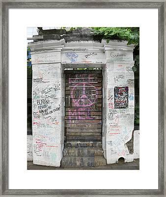 Abbey Road Graffiti Framed Print