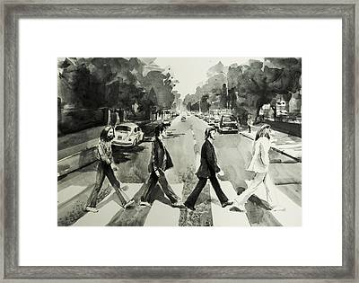 Abbey Road Framed Print by Bekim Art