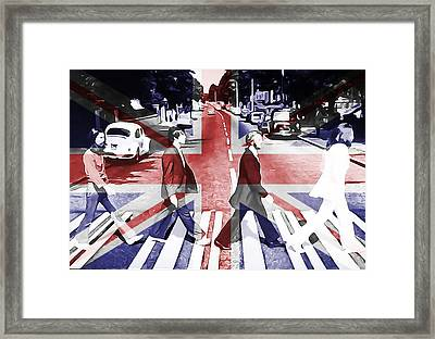 Abbey Road Union Jack Framed Print by Dan Sproul