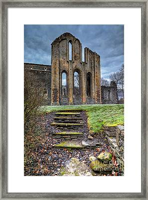 Abbey Steps Framed Print by Adrian Evans