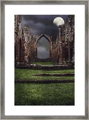 Abbey Steps Framed Print by Amanda Elwell