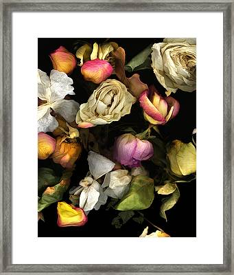 Abbey's Flowers Framed Print by Peter Ciccariello