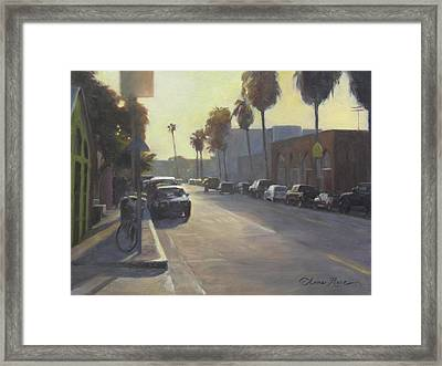 Abbot Kinney Sunset Framed Print by Anna Rose Bain
