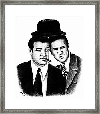 Abbott And Costello Framed Print by Andrew Read