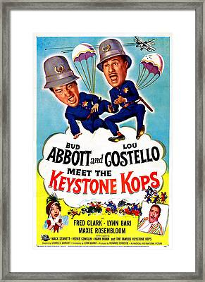 Abbott And Costello Meet The Keystone Framed Print by Everett