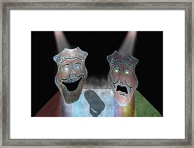 Abbott And Costello Framed Print by Steven  Michael