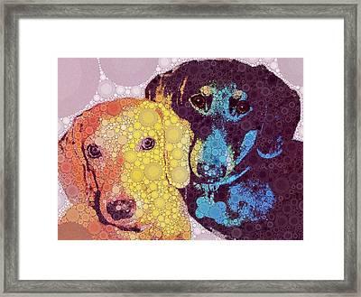 Abby And Simon Framed Print by Cindy Edwards