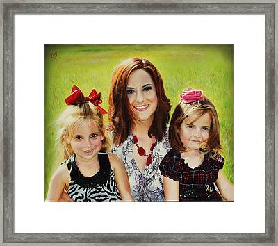 Abby And The Girls Framed Print by Glenn Beasley
