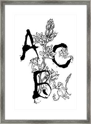 A B C  Framed Print