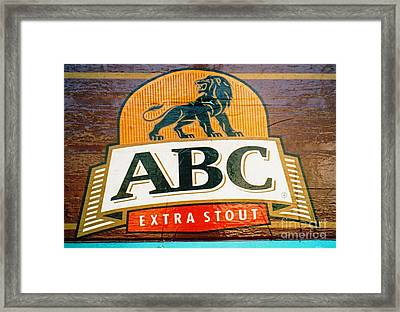 Framed Print featuring the photograph Abc Stout by Ethna Gillespie