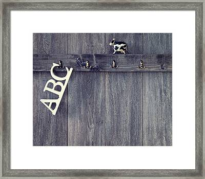 Abc's Framed Print