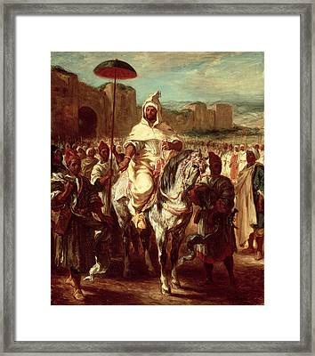 Abd Ar-rahman, Sultan Of Morocco, 1845 Oil On Canvas Framed Print