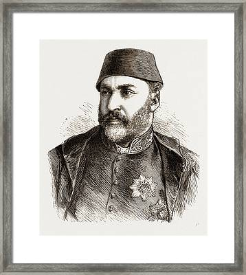 Abd-ul-aziz, The Late Sultan Of Turkey Framed Print by Litz Collection