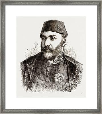 Abd-ul-aziz, The Late Sultan Of Turkey Framed Print