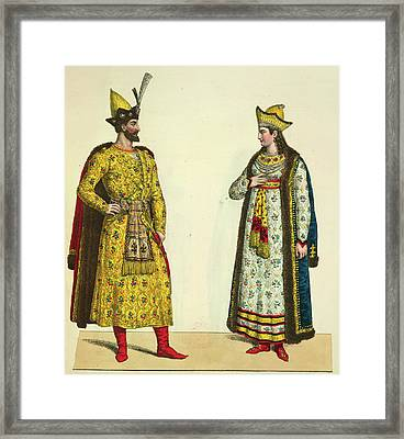 Abdallah And His Wife Framed Print by British Library