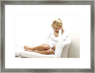 Abdominal Pain Framed Print by Science Photo Library