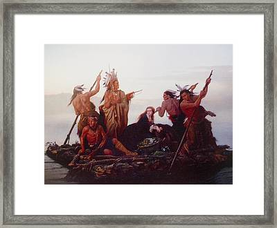 Abduction Of Boones Daughter Framed Print