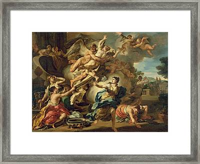 Abduction Of Orithyia Framed Print by Francesco Solimen