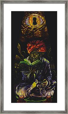Abdul Alhazred With Necronomicon Framed Print by Mani Price
