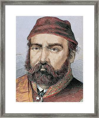 Abdul Aziz (1830-1876 Framed Print by Prisma Archivo