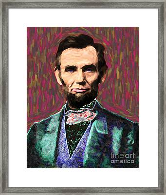 Abe 20130115 Framed Print by Wingsdomain Art and Photography