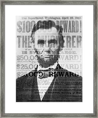 Abe Lincoln Assassination Outrage Framed Print by Daniel Hagerman