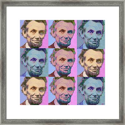 Abe Lincoln Smiles Repeat 1 Framed Print