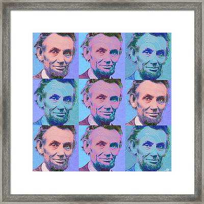 Abe Lincoln Smiles Repeat 2 Framed Print
