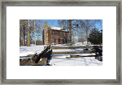 Abe Lincoln's Postville Courthouse Framed Print