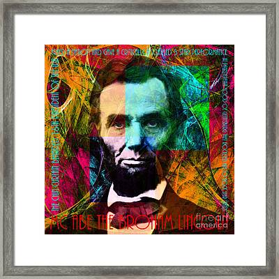 Abe The Broham Lincoln 20140217 Framed Print