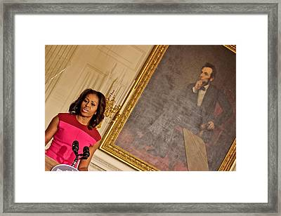 Abe...and The First Lady Framed Print by Douglas Adams