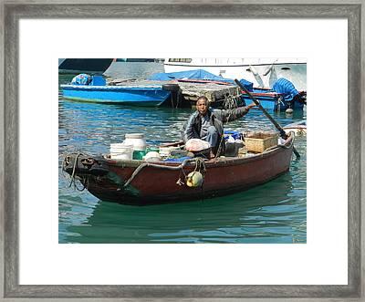 Abeerden Harbour Hong Kong Framed Print by Sandra Sengstock-Miller