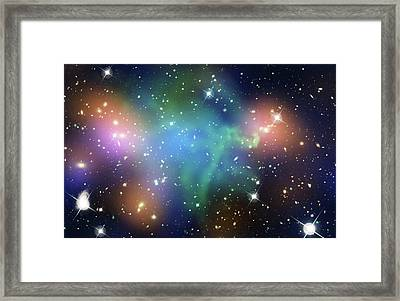 Abell 520 Galaxy Cluster Framed Print by Nasa, Esa, Cfht, Cxo, M.j. Jee (university Of California, Davis), And A. Mahdavi (san Francisco State University)