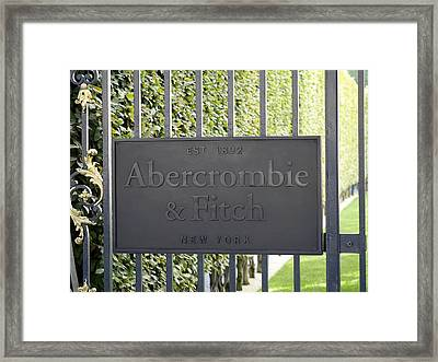 Abercrombie And Fitch Store In Paris France Framed Print