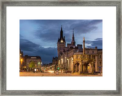 Aberdeen At Night Framed Print